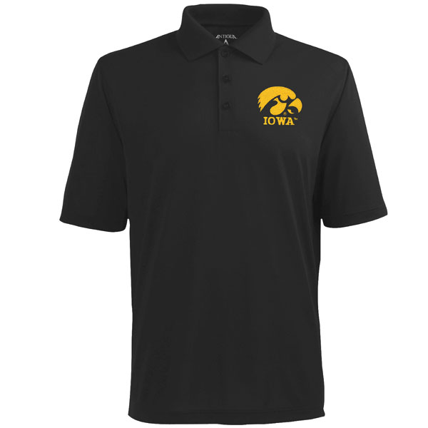 Iowa Hawkeyes Pique Xtra-Lite Polo (Large Logo)