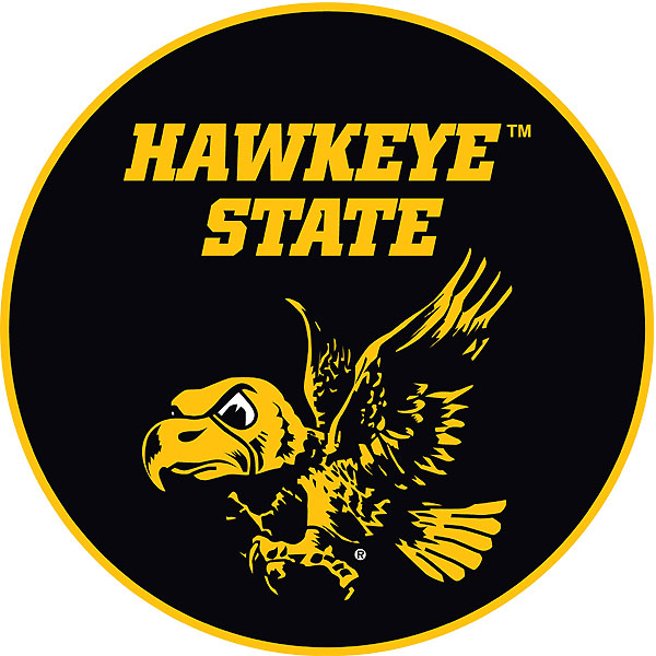 Iowa Hawkeyes Flying Herky Hawkeye State Decal