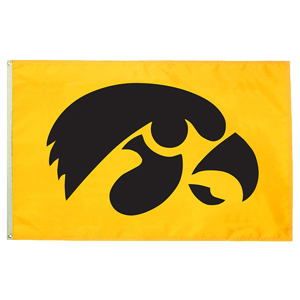 Iowa Hawkeyes 3' x 5' Tigerhawk Flag