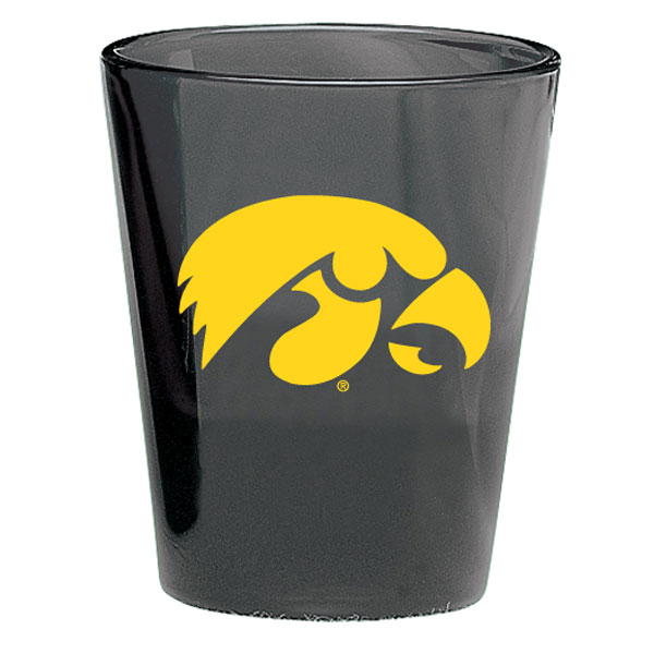 Iowa Hawkeyes Black Collector Shot Glass