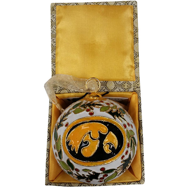 Iowa Hawkeyes Wreath Ornament