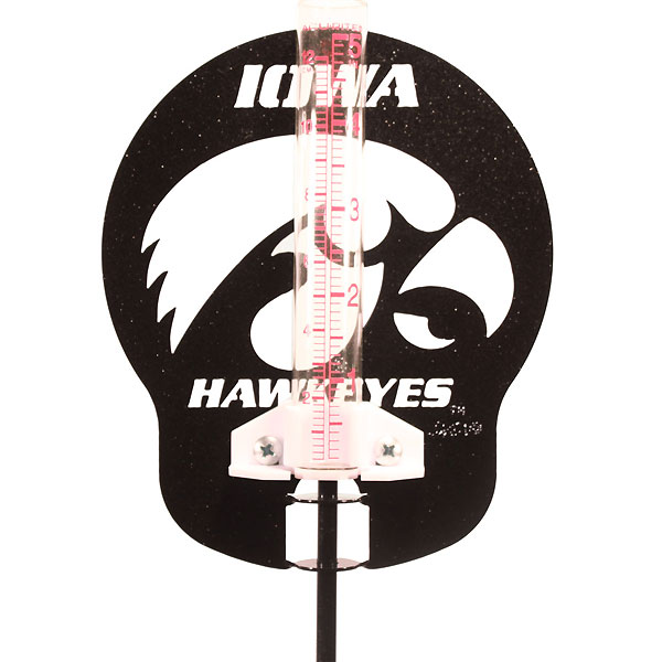 Iowa Hawkeyes Rain Gauge