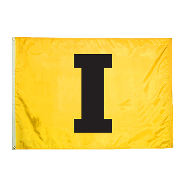 "Iowa Hawkeyes 2' x 3' ""I"" Flag"