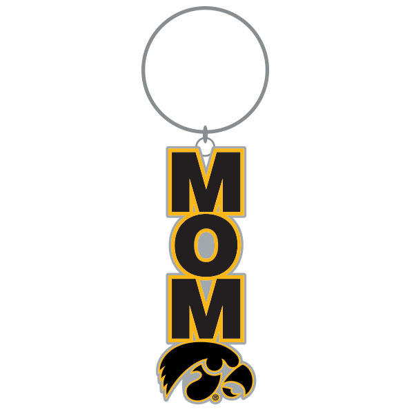 Iowa Hawkeyes Mom Key Chain