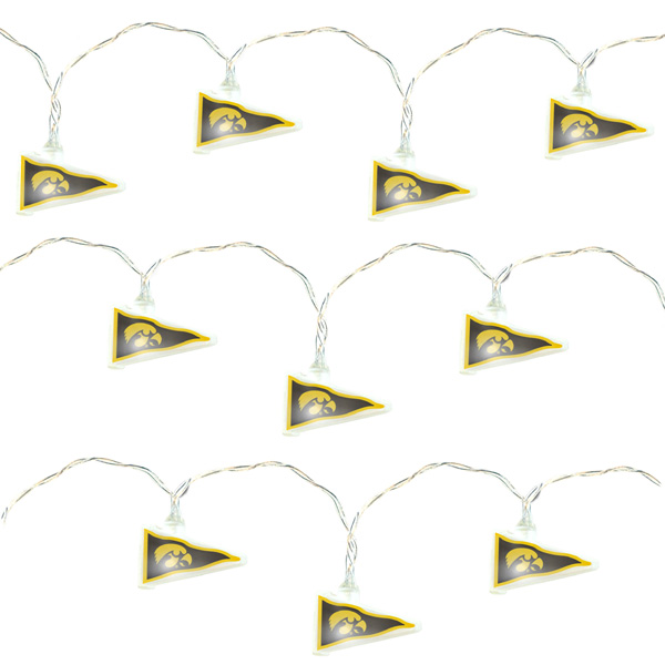 Iowa Hawkeyes Pennant Party Lights