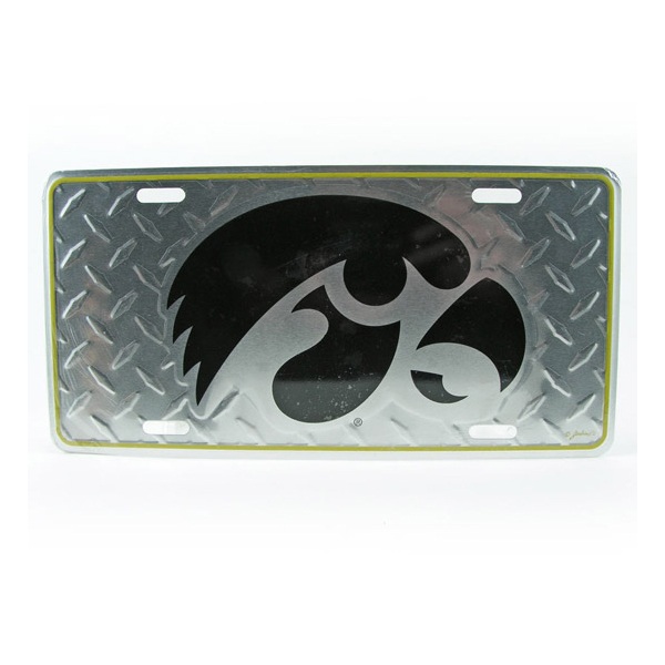 Iowa Hawkeyes Diamond License Plate
