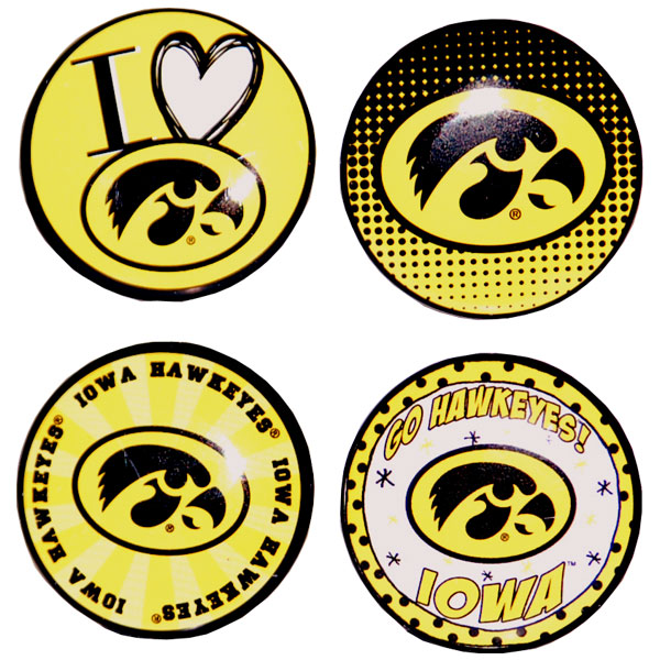 Iowa Hawkeyes Button 4-Pack