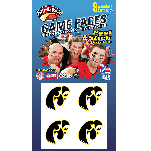 Iowa Hawkeyes Value Pack Tattoos