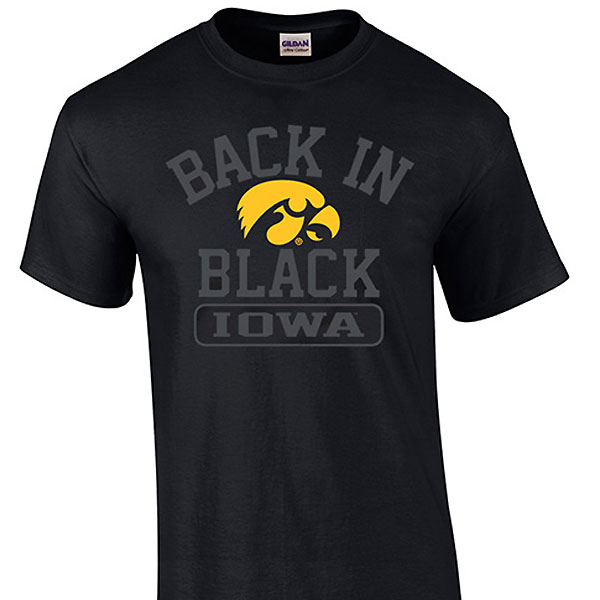 Iowa Hawkeyes Back In Black Tee