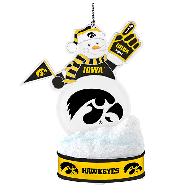 Iowa Hawkeyes LED Snowman Ornament