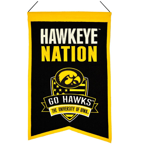 Iowa Hawkeyes Nation Banner