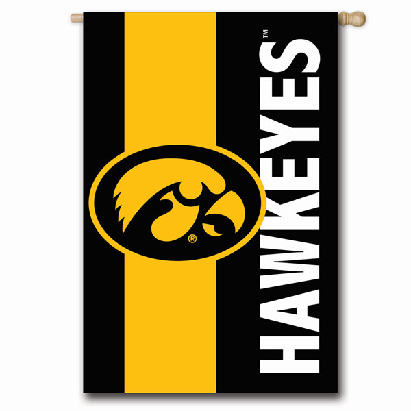 Iowa Hawkeyes Embellish Reg Flag