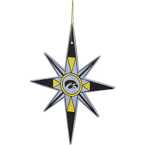 Iowa Hawkeyes Snowflake Ornament