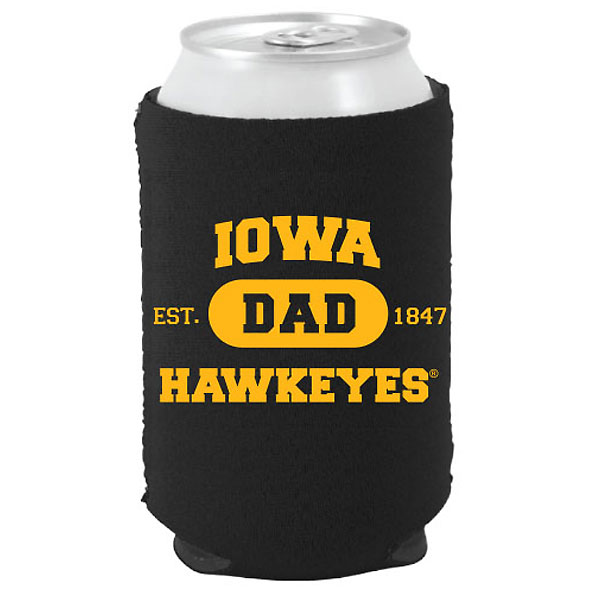 Iowa Hawkeyes Dad Can Coozie