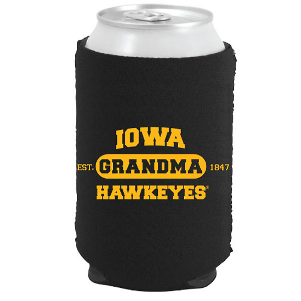 Iowa Hawkeyes Grandma Can Coozie