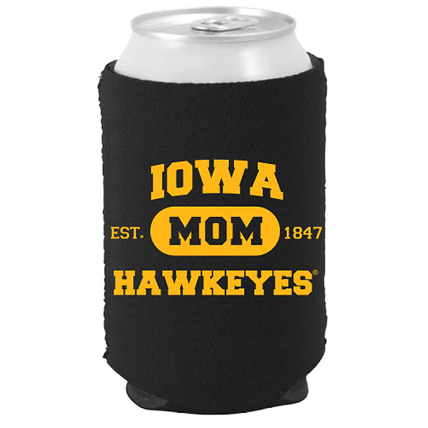Iowa Hawkeyes Mom Can Coozie