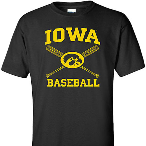 Iowa Hawkeyes Youth Cross Bats Tee