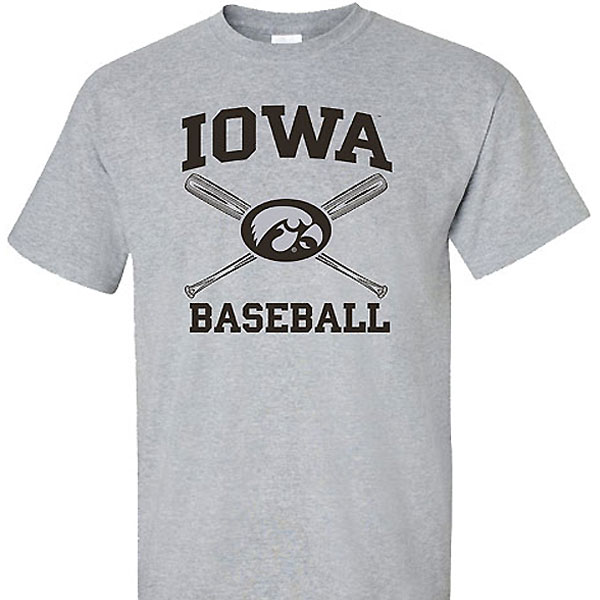Iowa Hawkeyes Cross Bats Tee
