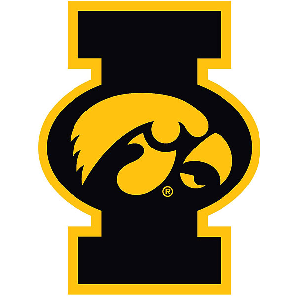 "Iowa Hawkeyes ""I"" with Tigerhawk Decal"