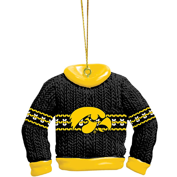 Iowa Hawkeyes Ugly  Sweater Ornament