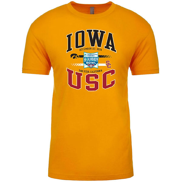 Iowa Hawkeyes Holiday Bowl Gold Tee