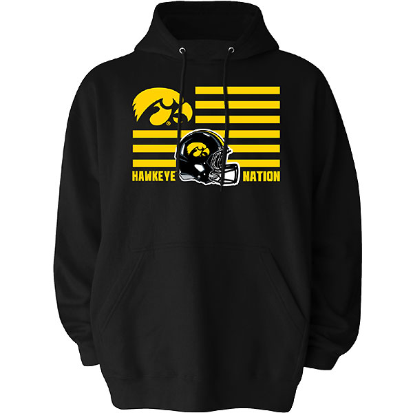 Iowa Hawkeyes Football Nation Hoodie