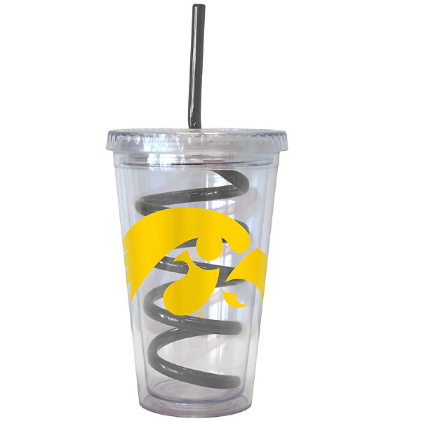 Iowa Hawkeyes Swirl Glass