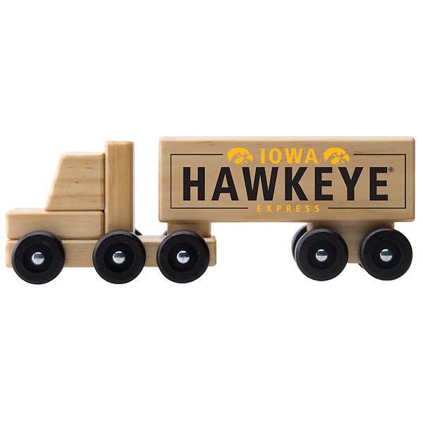 Iowa Hawkeyes Wooden Semi Truck