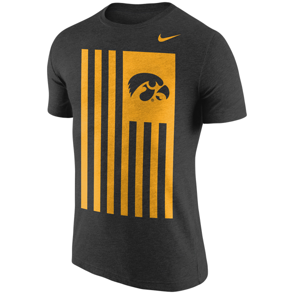 Iowa Hawkeyes Tri-Blend Cross Dye Nation Tee