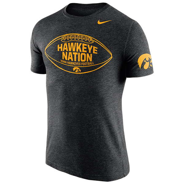 Iowa Hawkeyes Hawkeye Nation Football Tee