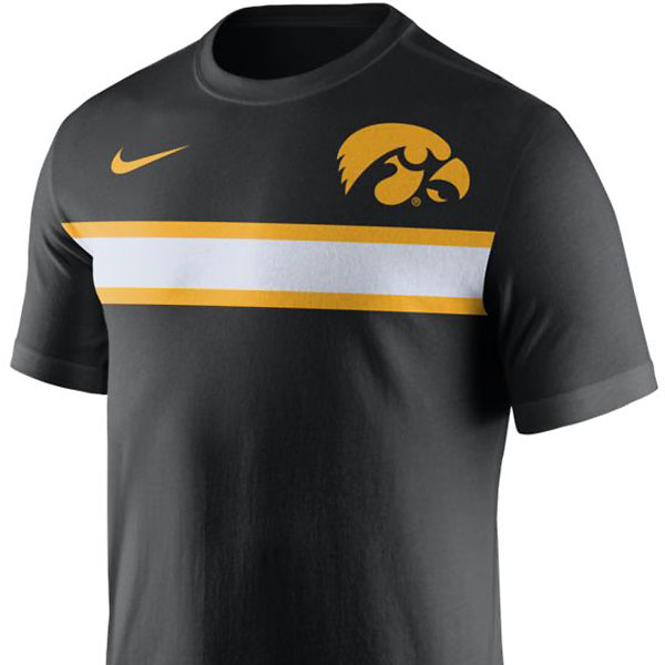 Iowa Hawkeyes Team Stripe Tee