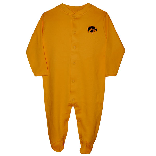 Iowa Hawkeyes Infant Footed Romper