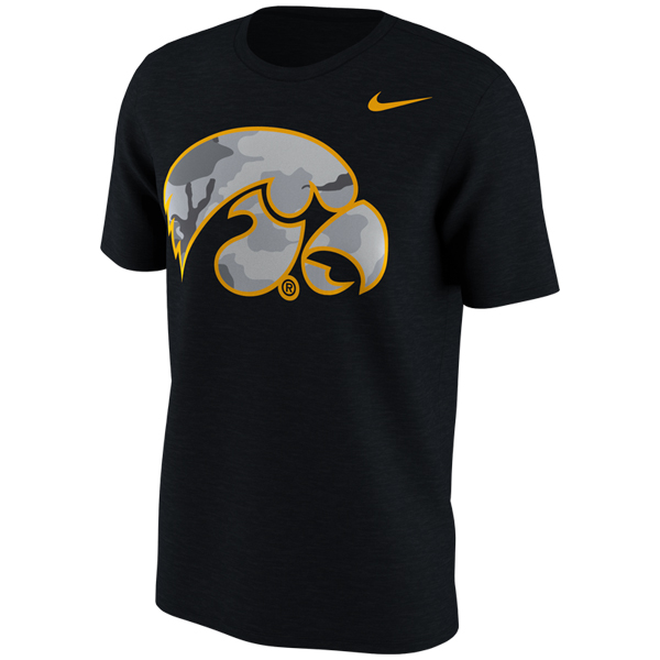Iowa Hawkeyes Camo Tiger Hawk Tee