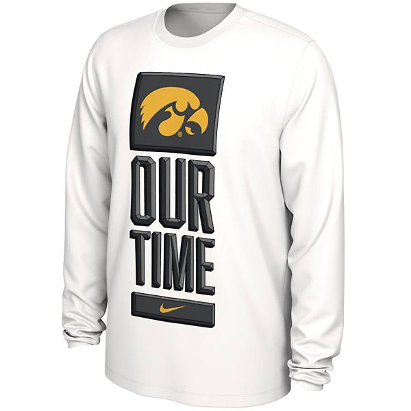 Iowa Hawkeyes Our Time Tee - Long Sleeve