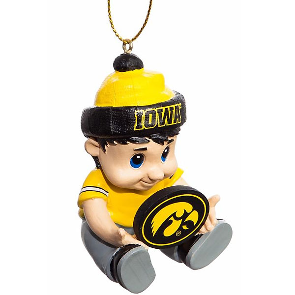 Iowa Hawkeyes New Little Fan Ornament