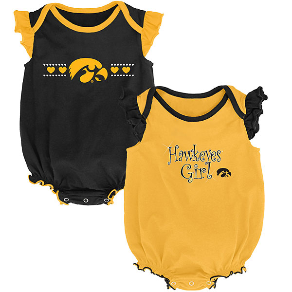 Iowa Hawkeyes Infant Homecoming 2 Pack Creeper