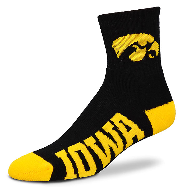 Iowa Hawkeyes Youth Logo On Cuff Socks