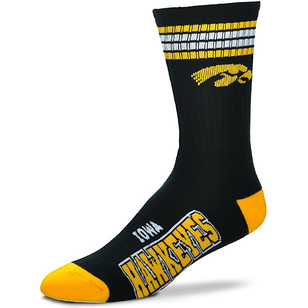 Iowa Hawkeyes Youth Striped Deuce Sock