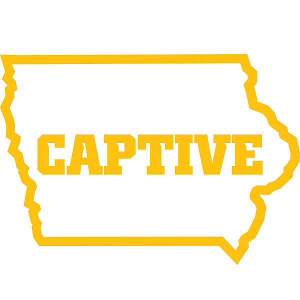 Iowa Hawkeyes Captive Decal