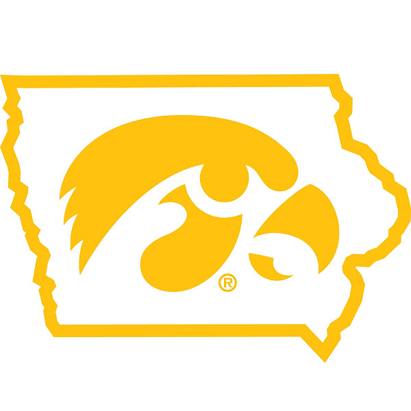Iowa Hawkeyes Tigerhawk Decal