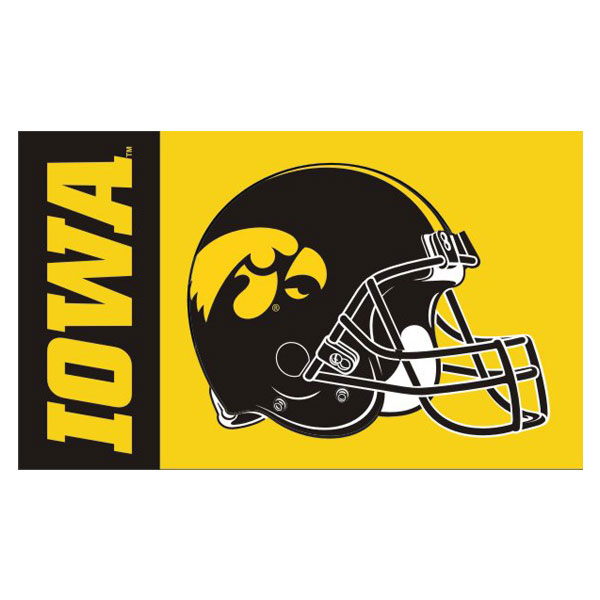 Iowa Hawkeyes 3' x 5' Helmet Flag