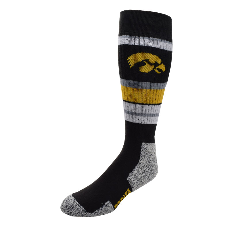 Iowa Hawkeyes Wild Stripe Socks