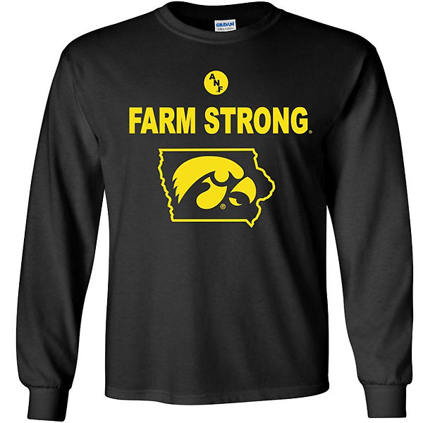 Iowa Hawkeyes Farm Strong State Long SleeveTee