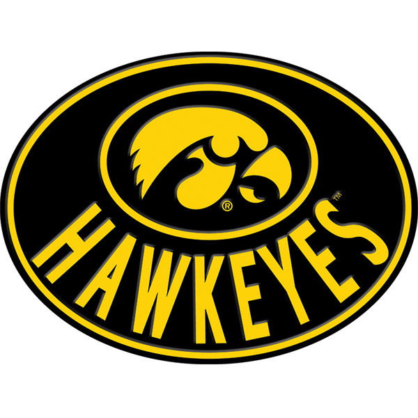 Iowa Hawkeyes Embossed Oval Sign