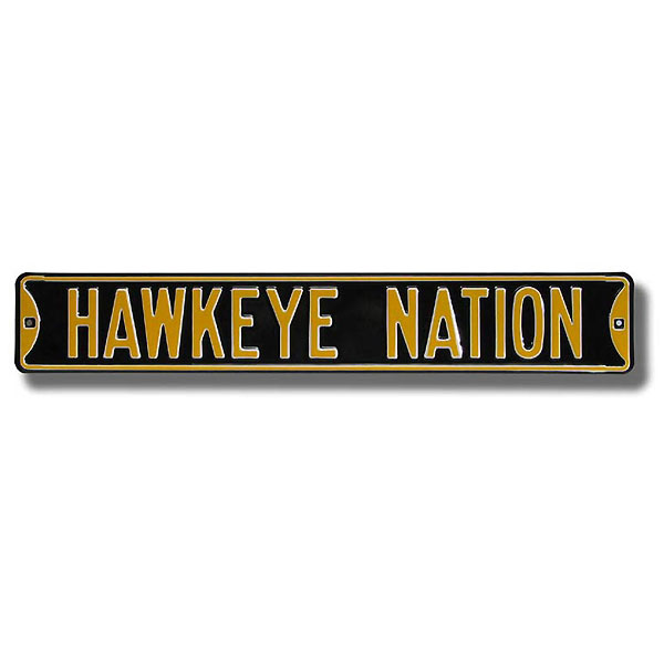 "Iowa Hawkeyes ""Hawkeye Nation"" Street Sign"