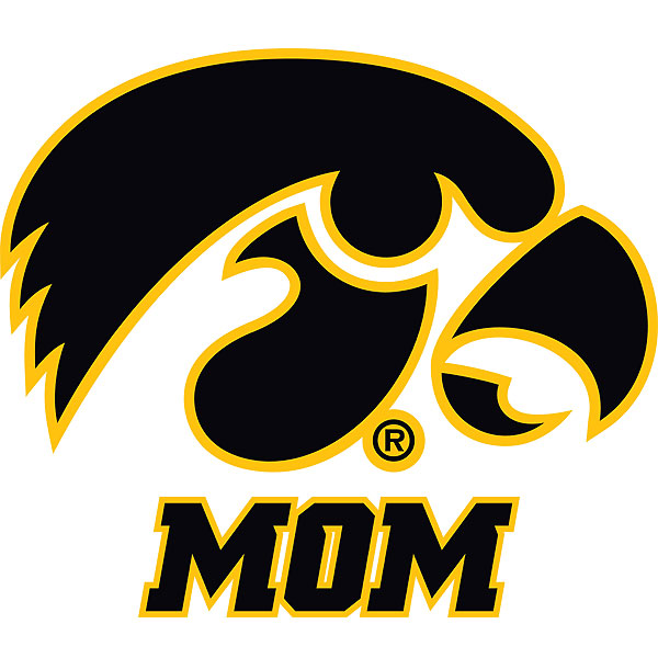Iowa Hawkeyes Mom Decal