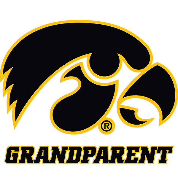 Iowa Hawkeyes Grandparent Decal
