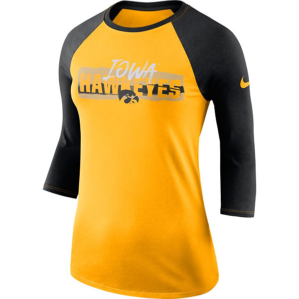 Iowa Hawkeyes Women's Raglan Tee