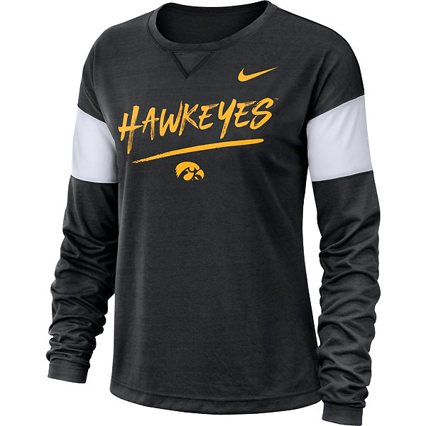Iowa Hawkeyes Women's Breathe LS Top