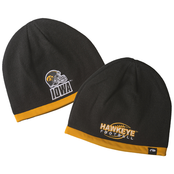 Iowa Hawkeyes Black Stocking Cap